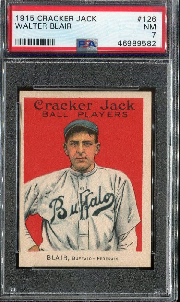 1915 Cracker Jack #126 Walter Blair PSA 7