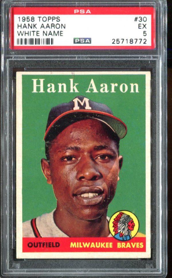 1958 Topps #30 Hank Aaron PSA 5