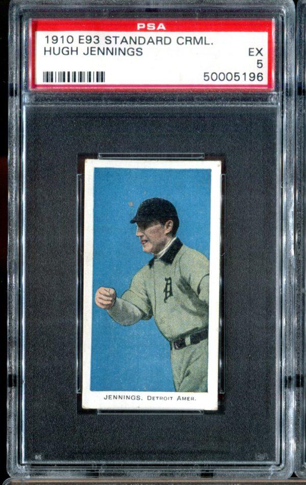 1910 E93 Standard Caramel Hugh Jennings PSA 5