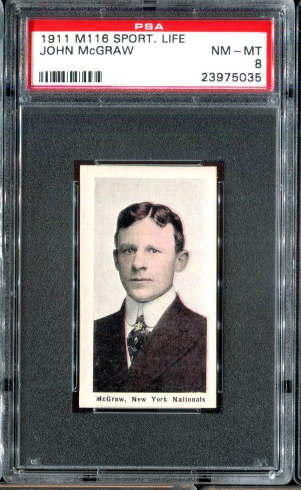 1911 M116 Sporting Life John McGraw PSA 8