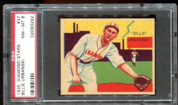 1935 Diamond Stars #37 Billie Urbanski PSA 8