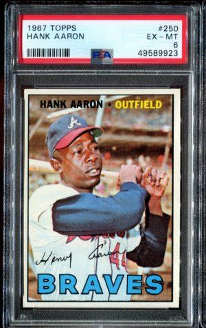 1967 Topps #250 Hank Aaron PSA 6